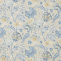 Ткань Англия Sanderson Art of the Garden Shalimar China Blue/Linen 226319 (шир. 137 см)